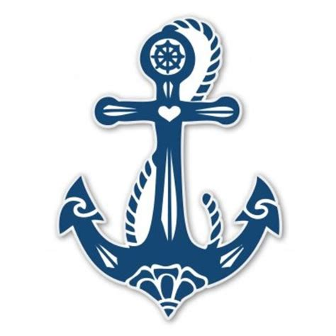 boat anchor decal anchor vinyl sticker decal select size ebay