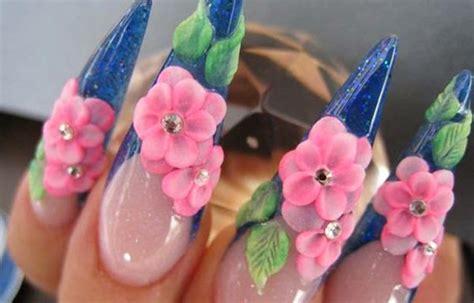 imagenes de uñas acrilicas con flores 3d dise 241 os de u 241 as 3d u 241 asdecoradas club