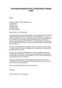 Sample Letter Termination Employment Due Redundancy