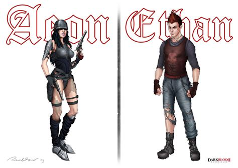 Aeon Chronicles darkblood chronicles aeon and ethan by ricardotomeart on
