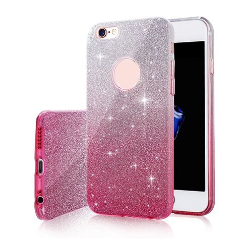 Soft Thin Glitter Bling For Iphone 6 Plus 6 T0310 thin bling glitter gradient soft silicone phone for