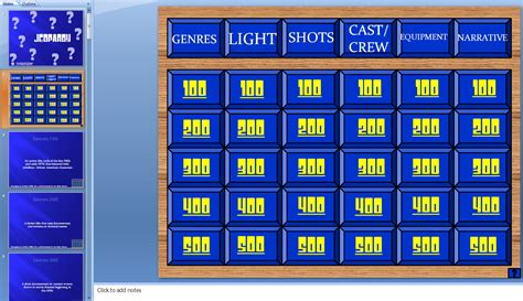 Gameshow Micki Jeopardy Template With Sound And Score