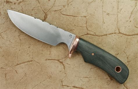 Best Handmade Knife - custom drop point graphite micarta