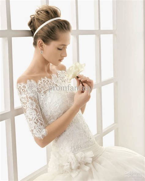 Wedding Dresses Lace by Vintage Lace The Shoulder Wedding Dresses Sang Maestro