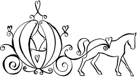 Outline Of A Carriage free coloring pages of princess carriage