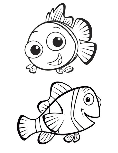 Nemo Color Pages nemo coloring pages coloring pages to print