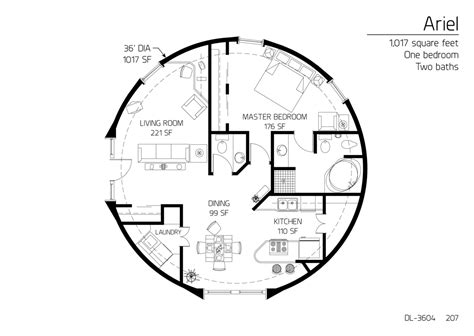 floor plan dl 3604 monolithic dome institute