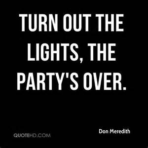 turn the lights don meredith quotes quotehd