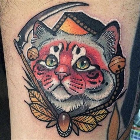 cat tattoo neo young woong han s lively neo traditional style cat tattoos