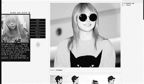 theme tumblr issue black and white