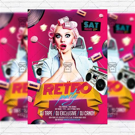 retro flyer template retro premium flyer template instagram size