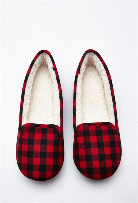 forever 21 slippers forever 21 gingham faux shearling slippers you ve been