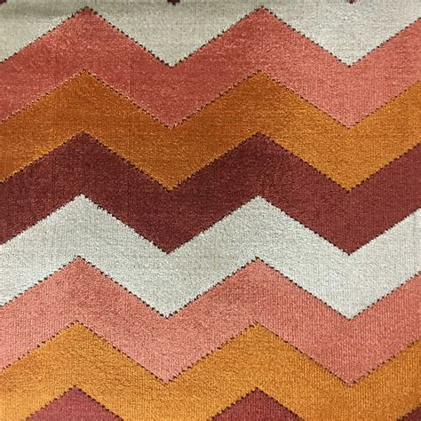 decorative upholstery fabric longwood chevron pattern cut velvet upholster fabric by