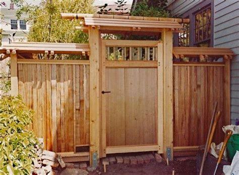 pin  japanese fences gates
