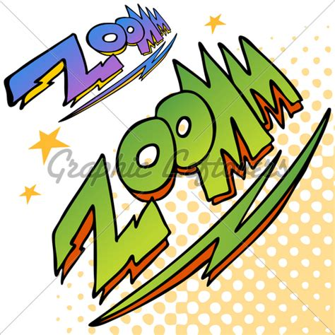 zoom sound zoom bolt sound text 183 gl stock images