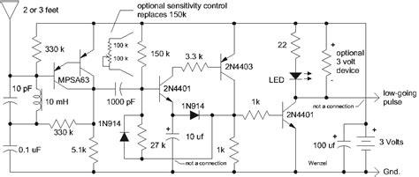 circuit diagram simple lightning detector circuit