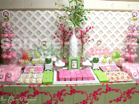 pink green ladybugs baby shower ideas photo 1 of