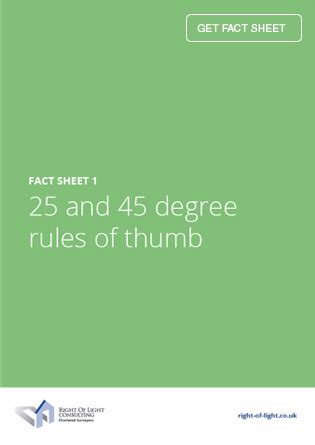 picture light rule of thumb fact sheet 1 25 and 45 degree rules of thumb rights to