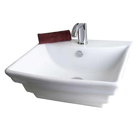 rectangular vessel sink imaginations 20 inch w x 18 inch d rectangular