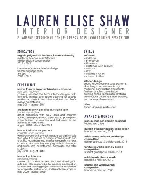 resume sles for interior designers resume title block useful ideas resume