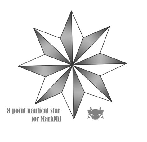 five point star tattoo 8 pointed www pixshark images
