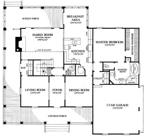 Farmhouse Floor Plans House Plan 86162 At Familyhomeplans