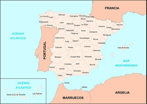 map of spain provinces big size detailed map of spain provinces travel around