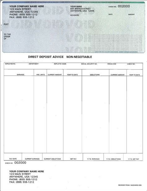 Blank Payroll Check Template Invitation Template Free Payroll Checks Templates