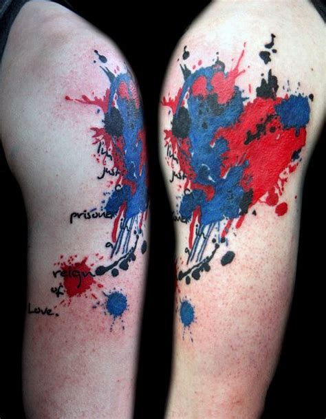 tattoo boogaloo instagram watercolor tattoo ink spatter heart tattoo by deanna