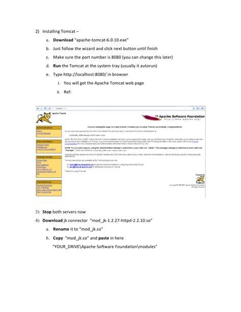 installing xp and tomcat integrating apache tomcat using mod jk for windows xp
