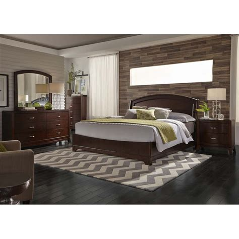 Liberty King Bedroom Set by Liberty Furniture Avalon 5 King Panel Bedroom Set In
