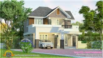 Beautiful Small Homes by Simple And Elegant Looking Flat Roof Home Keralahousedesigns