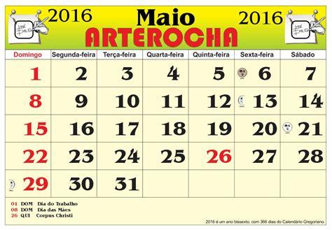 Calendario Do Som Arterocha Calend 193 Mes De Maio 2016