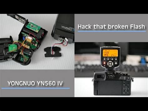 tutorial flash yongnuo 560 iv yongnuo 560 iv flash hack mod youtube