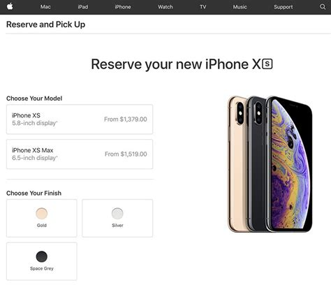 apple stores in canada accepting iphone xs and iphone xs max reservations launch day