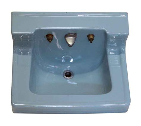 vintage blue bathroom sink retro blue vintage ceramic sink olde things