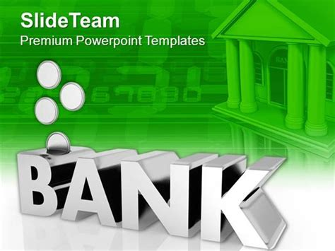 presentation themes for banking bank management factors with coins powerpoint templates