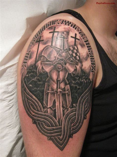 christian warrior symbols warrior tattoos sleeve