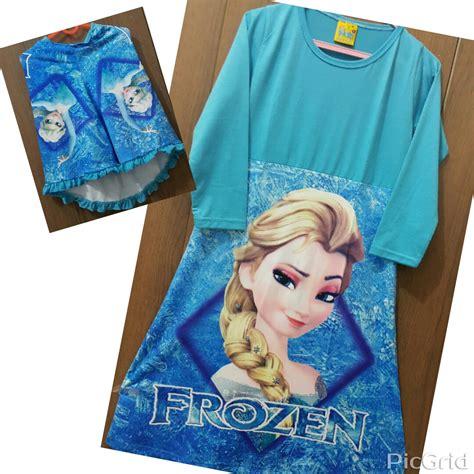 Baju Gamis Frozen baju anak gamis frozen elsa biru grosir eceran
