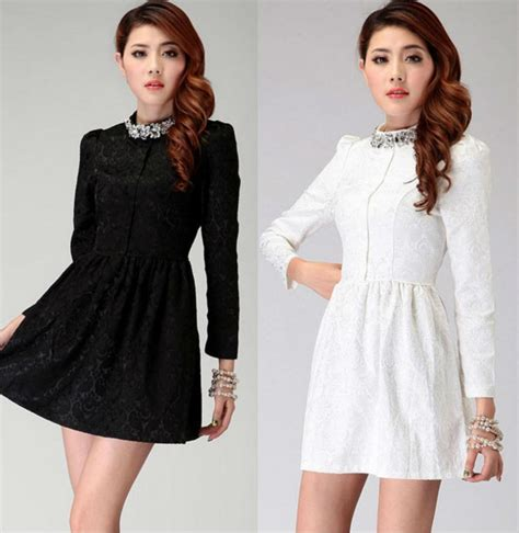 Robe En Femme Hiver - casual cotton tweed mini dress for 2013 autumn