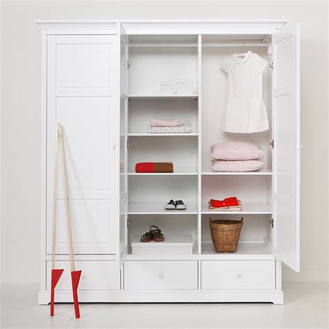 Childrens Wardrobes Uk - oliver furniture seaside children s luxury 3 door wardrobe