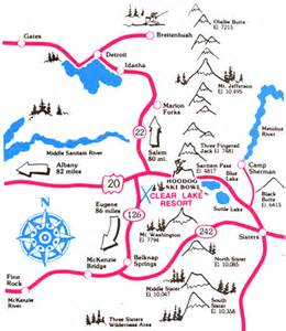 clear lake oregon map clear lake resort directions