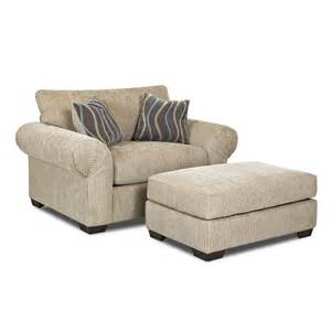 Accent Chair And Ottoman Set Klaussner Tiburon Chair And Ottoman Set Atg Stores