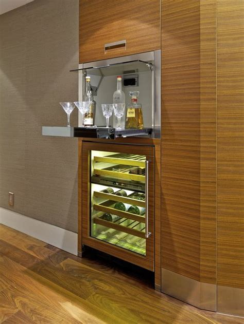 mini bar en madera  metal  ideas  el hogar brico  deco