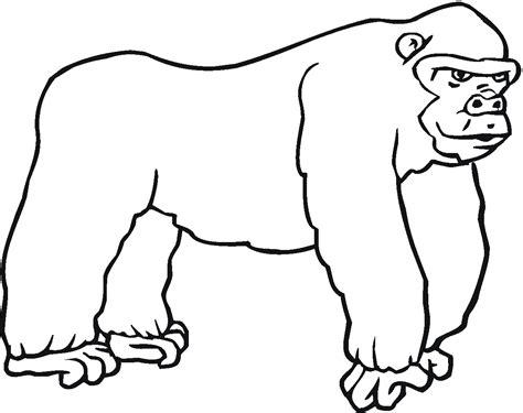 gorilla outline coloring page zwierzęta kolorowanki do druku 3 fd