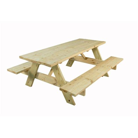 picnic bench kit 28 in x 72 in picnic table 144508 the home depot