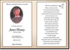 Prayer Card Template For Word by In Loving Memory Templates Solomei