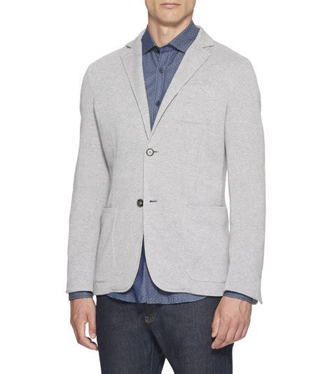 light gray blazer mens ermenegildo zegna light gray jersey cotton blazer in gray