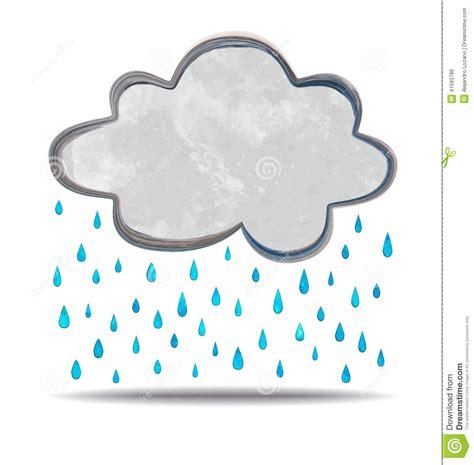 clipart pioggia clima nuvola di pioggia illustrazione vettoriale