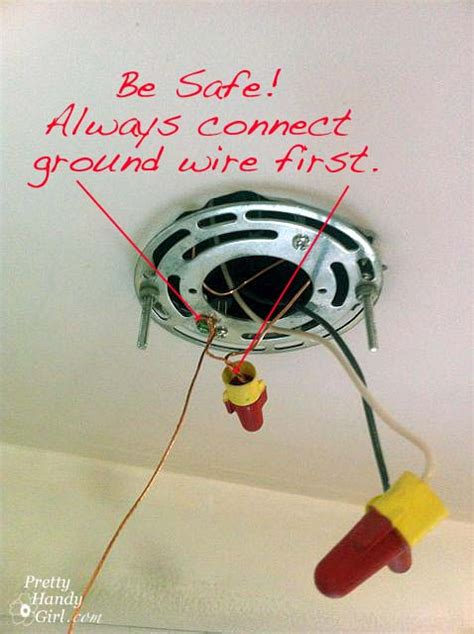 Ceiling Light Ground Wire How To Install A Wired Pendant Light Pretty Handy